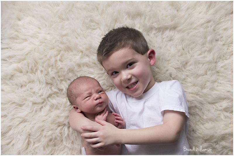© Brandi Williamson Photography | Dover OH | newborn boy + big brother