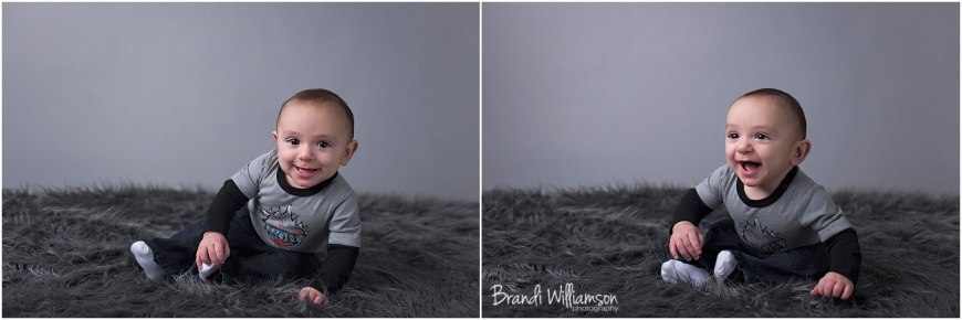 © Brandi Williamson Photography | 6 month old baby boy
