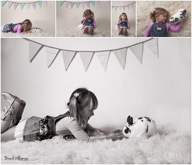 © Brandi Williamson Photography | Easter photos with bunny