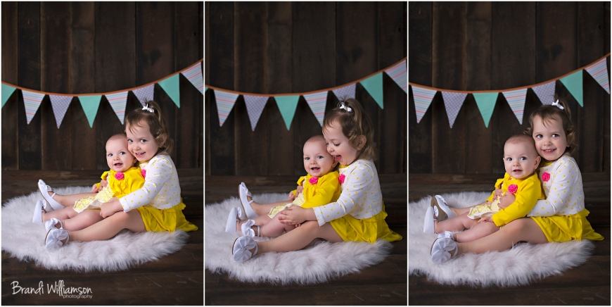 © Brandi Williamson Photography | 6 month old girl & sisters