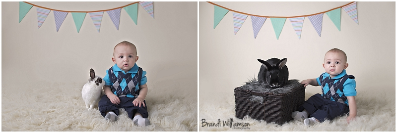 © Brandi Williamson Photography | Easter photos with live bunny