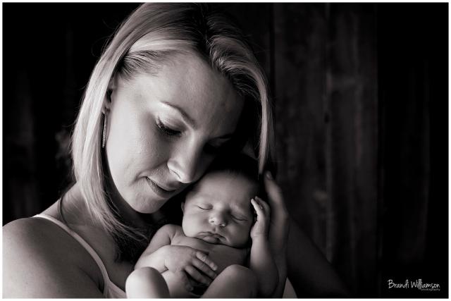© Brandi Williamson Photography | newborn boy and mom | mom and baby