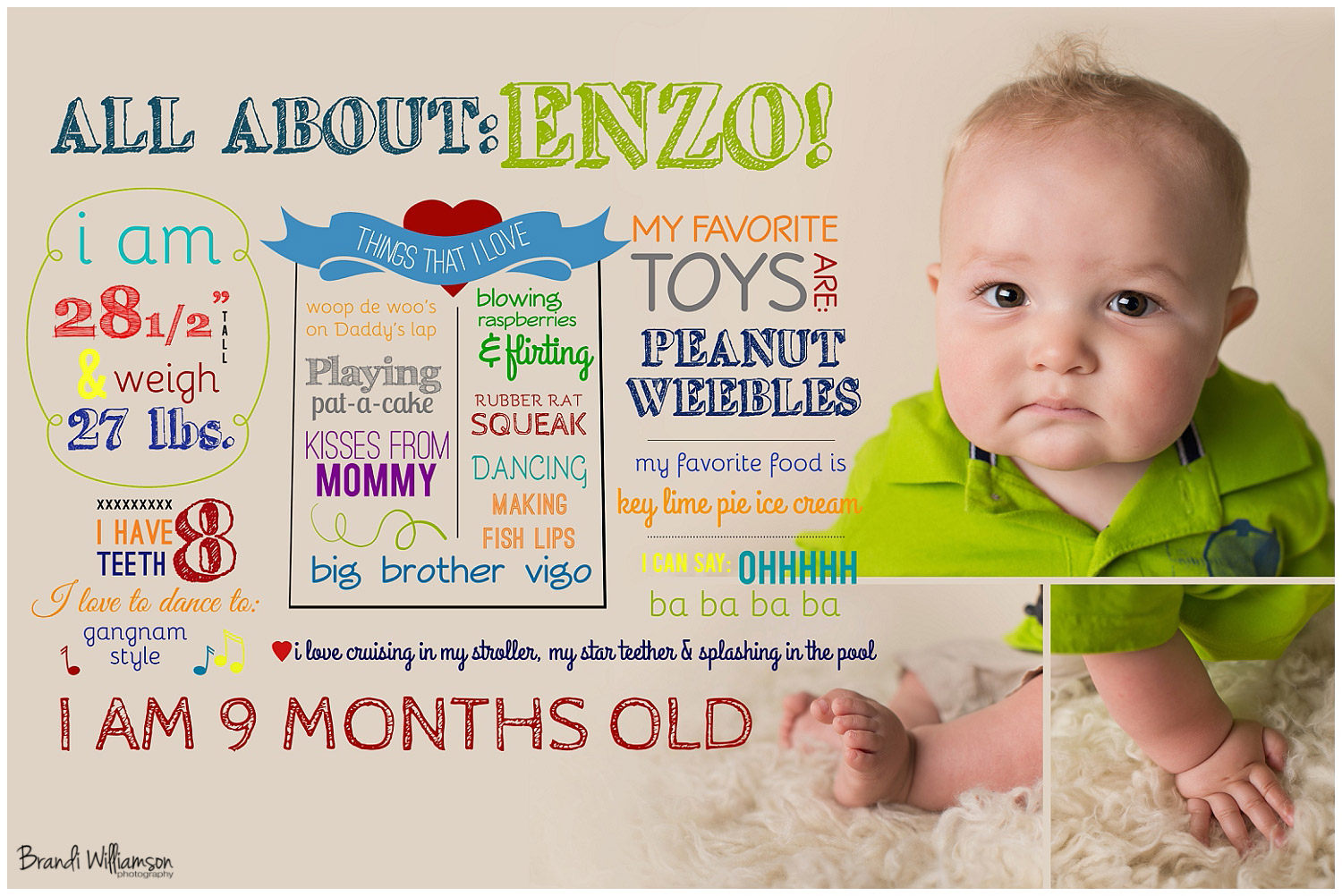 Dover new philadelphia oh baby photographer enzo 9 for 9 month baby development