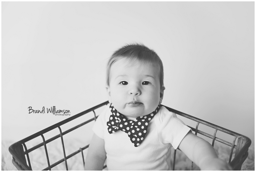 Dover, New Philadelphia Ohio baby photographer | 6 months | © Brandi Williamson Photography