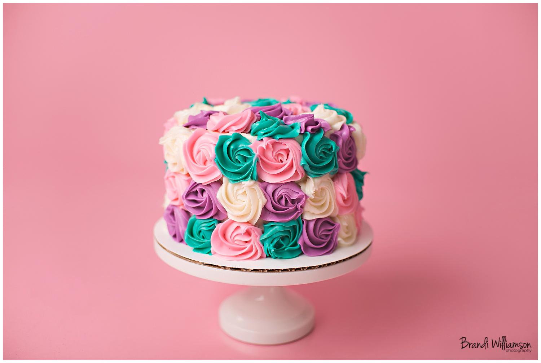 Smash Cake Photo Idea For Girl