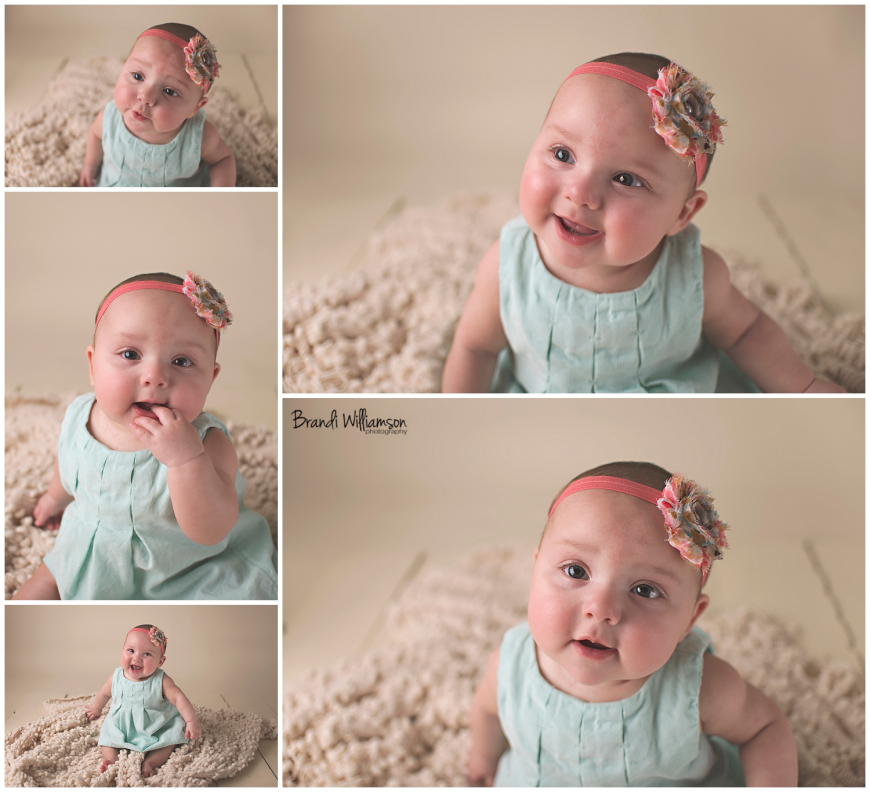 Dover, New Philadelphia Ohio baby photographer || 6 month old baby photography || © Brandi Williamson Photography
