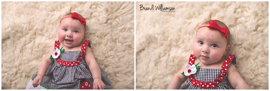 Dover, New Philadelphia Ohio baby photographer || 6 month old baby photography || © Brandi Williamson Photography