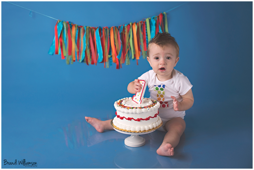© Brandi Williamson Photography | Dover, New Philadelphia OH 1st birthday smash cake photographer)