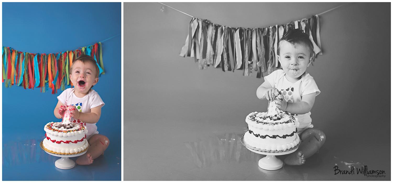 © Brandi Williamson Photography   Dover, New Philadelphia OH 1st birthday smash cake photographer