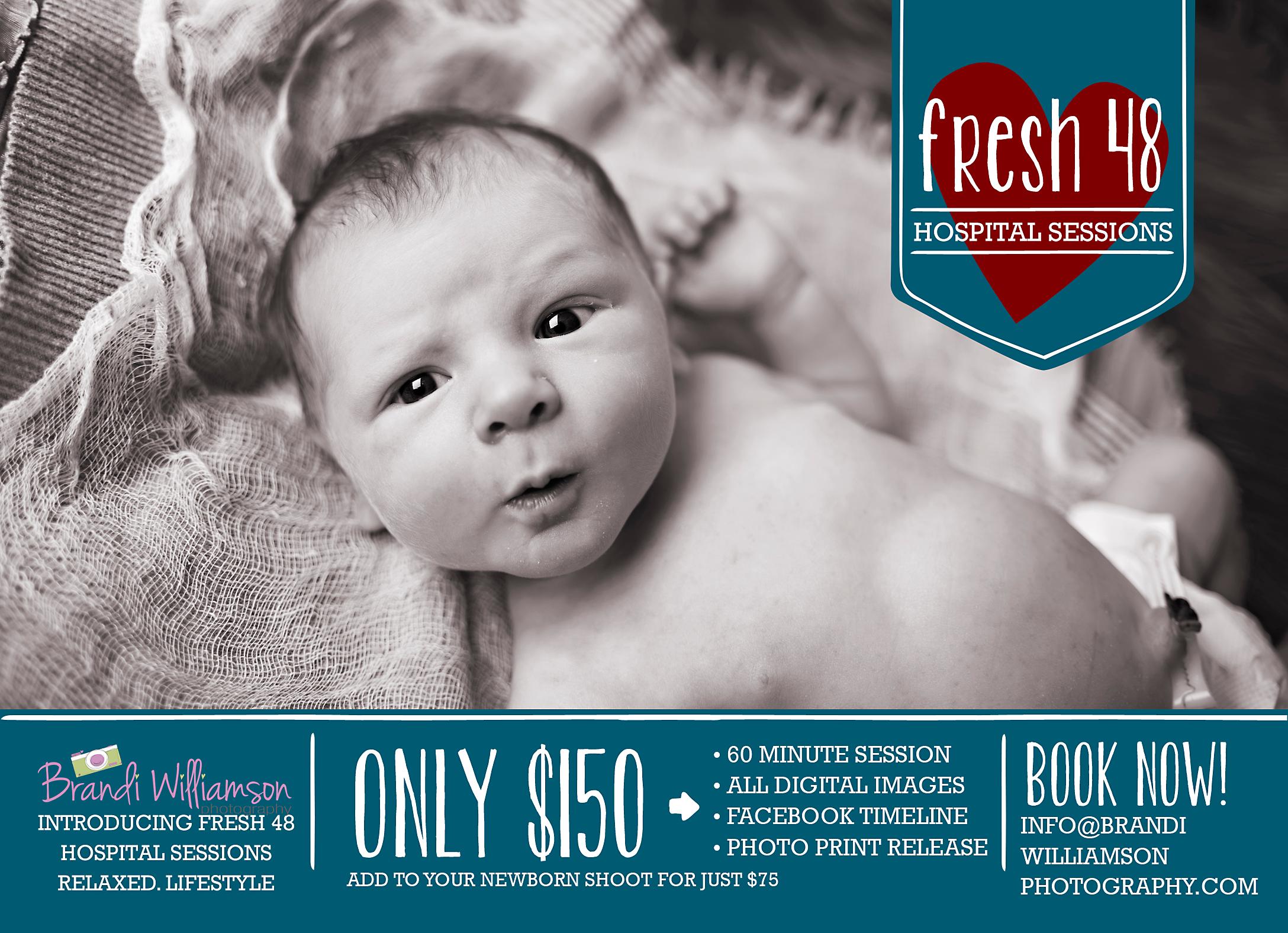 Dover, New Philadelphia OH hospital newborn session and photographer | Fresh 48 Hospital Session | Brandi Williamson Photography