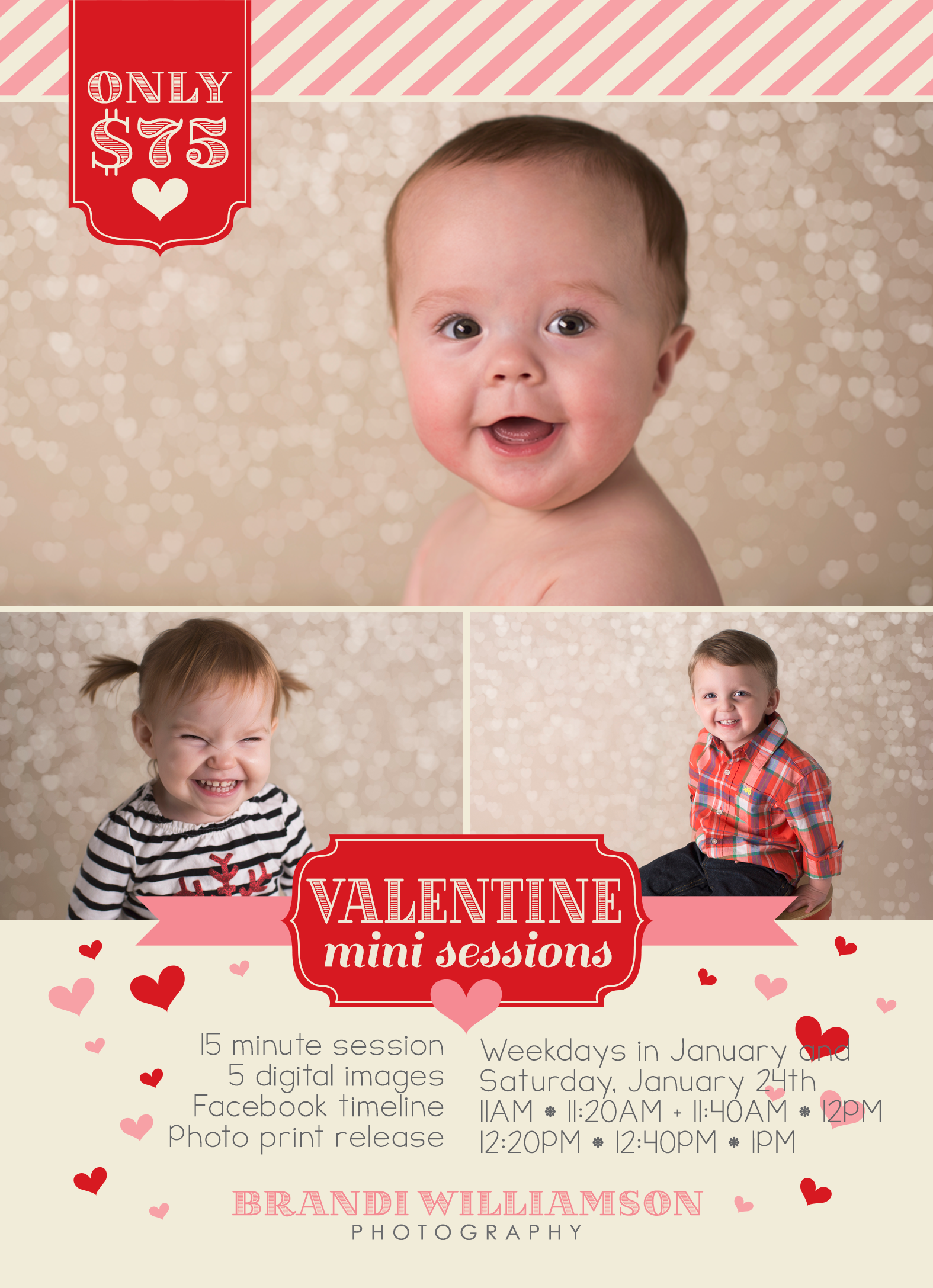 Ohio Photographer | Valentine Mini Session Info | © Brandi Williamson Photography